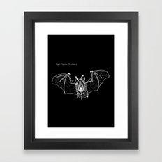 Batgina On Black Framed Art Print