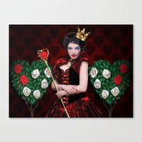 Painting The Roses Red Canvas Print