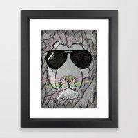 Shades Lion Framed Art Print
