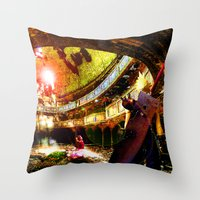 The Flower Girl - Final Fantasy VII Throw Pillow
