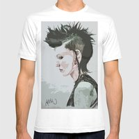 The Girl With The Dragon… Mens Fitted Tee White SMALL