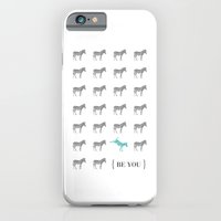 iPhone & iPod Case featuring Be You - Zebra Print by Patti Murphy
