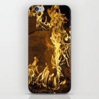 Fiery footprints  iPhone & iPod Skin