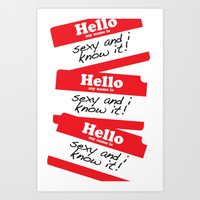 Hello my name is Art Print