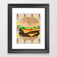 Double Cheeseburger Framed Art Print