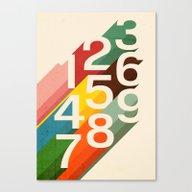 Retro Numbers Canvas Print