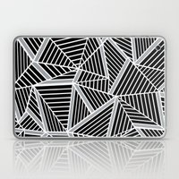 Ab lines Zoom Black and Silver Laptop & iPad Skin