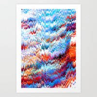Forest Pixels Art Print