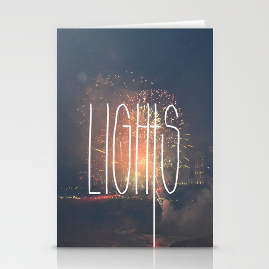 SKY LIGHTS Stationery Card