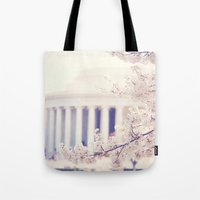 Cherry Blossoms at the Jefferson Memorial Washington DC Tote Bag