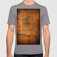 Wood Texture 340 Mens Fitted Tee Tri-Grey SMALL