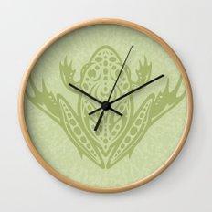 Tribal Leopard Frog Wall Clock