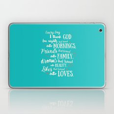Thank God, inspirational quote for motivation Laptop & iPad Skin