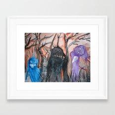 Monsters, We Framed Art Print