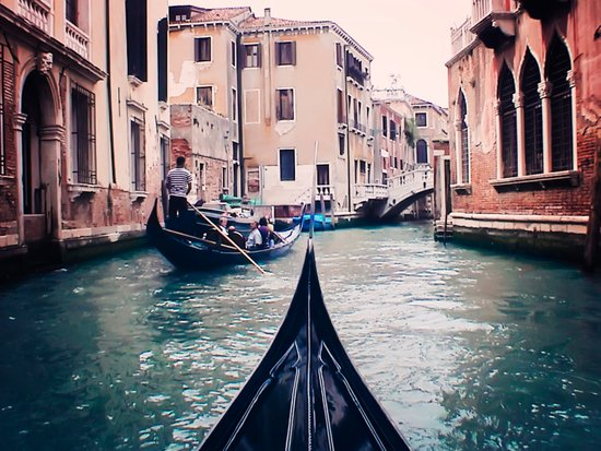 Venice by Gondola Canvas Print