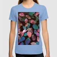 Galactic Gems  Womens Fitted Tee Tri-Blue SMALL