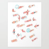 Top Less Beach Art Print
