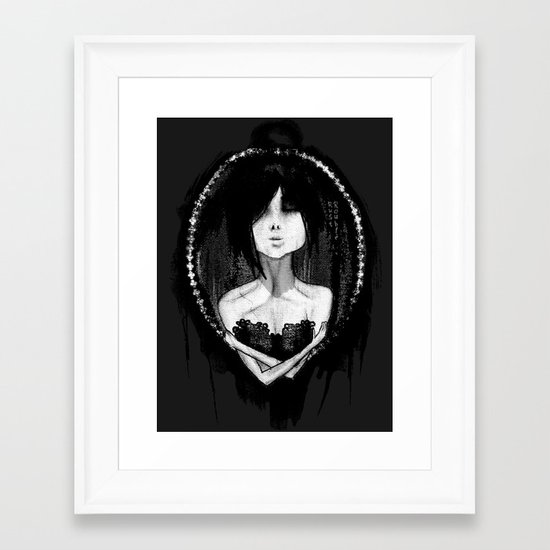 GothLoli (ゴスロリ) Framed Art Print