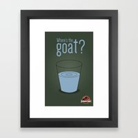 Jurassic Park  ¿Where's the goat? Framed Art Print