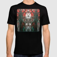 The Owls are Beautiful Mens Fitted Tee Black SMALL