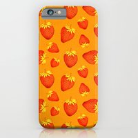 Strawberries All Over iPhone 6 Slim Case