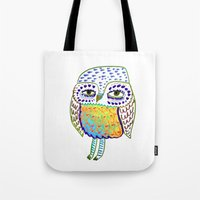colorful Owl, owl art, owl design, owl print,  Tote Bag