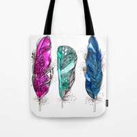 dream feathers 2 Tote Bag