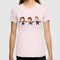 The Doctors! Womens Fitted Tee Light Pink SMALL