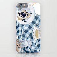 Still life with blueberry pie iPhone 6 Slim Case