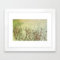 Winter Berries Framed Art Print