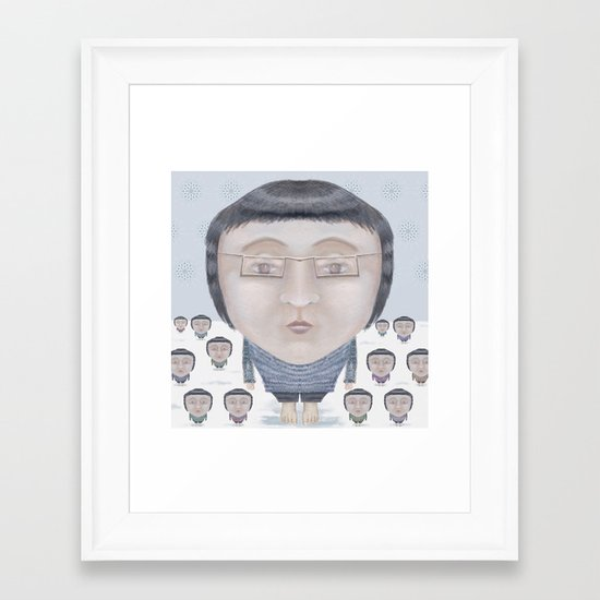 Portrait : Cold Feet Framed Art Print