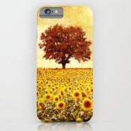 Lone Tree & Sunflowers F… iPhone 6 Slim Case