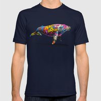 Tagged Whale Mens Fitted Tee Navy SMALL