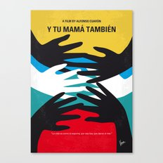 No468 My Y Tu Mama Tambien minimal movie poster Canvas Print