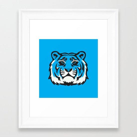 Blue Tiger Framed Art Print