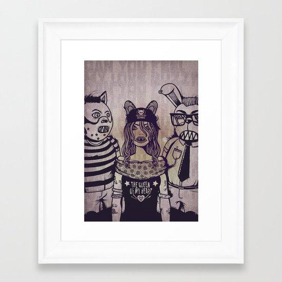 the queen of my heart Framed Art Print