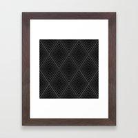 Diamonds (Black) Framed Art Print
