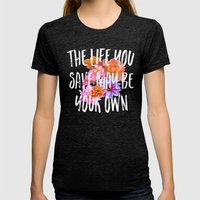 TLYS Womens Fitted Tee Tri-Black SMALL