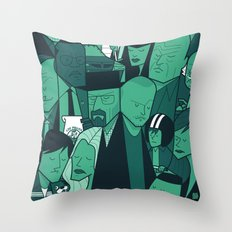Breaking Bad (green version) Throw Pillow