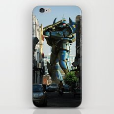 Mech behind a back alley iPhone & iPod Skin