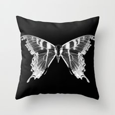Wings and Skull #5 Throw Pillow