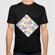 Colorful Circles II Mens Fitted Tee Tri-Black SMALL