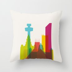 Shapes of Liverpool. Accurate to scale. Throw Pillow