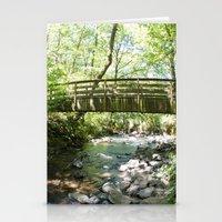 Bridal Veil Falls OR Forest Bridge Stationery Cards