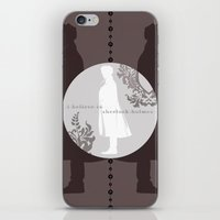 I Believe in Sherlock Holmes iPhone & iPod Skin