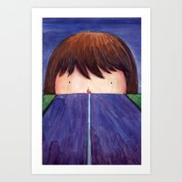 Ghost In The Road Art Print