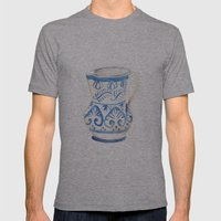 handmade ceramic Mens Fitted Tee Athletic Grey SMALL