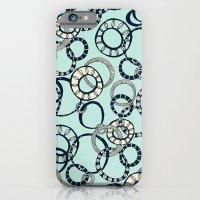 Honolulu hoopla pale blue iPhone 6 Slim Case