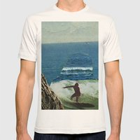The Cove Mens Fitted Tee Natural SMALL