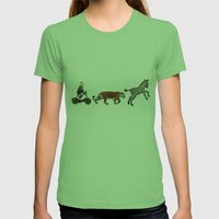 Circus Parade Womens Fitted Tee Grass SMALL